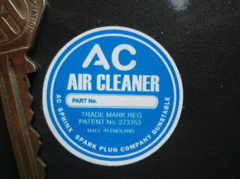 "AC Air Cleaner Circular Sticker. 1.5"" or 2.25""."