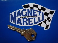 "Magneti Marelli Competizione Chequered Flag Stickers. 4"", 6"" or 8"" Pair."