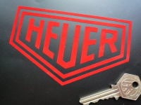 "Heuer Plain Cut Vinyl Stickers. 2"", 3"", 4"", 5"", 6"", or 7"" Pair."