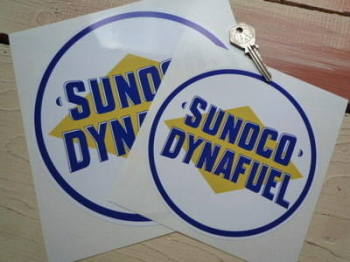 "Sunoco Dynafuel Circular Sticker. 6"" or 8""."