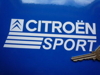 "Citroen Sport Cut Vinyl Stickers. 6"" Pair."