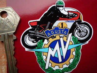 MV Agusta GP Racer Garland Sticker. 2.75