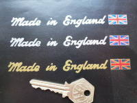 Made in England Sticker. Cut Vinyl & Union Jack. 5