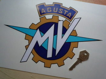 "MV Agusta Full Colour Cut To Shape Sticker. 10""."