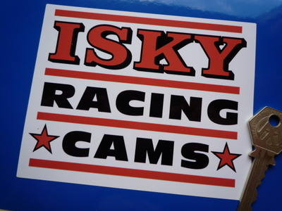 Isky Racing Cams. Orange Oblong Stickers. 5