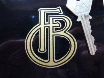 """Francis-Barnett 'FB' Logo Sticker. 2""""."""