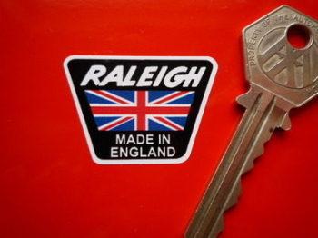"Raleigh Trapezoidal Headstock Sticker. 1.5""."