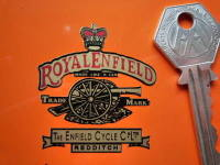 Royal Enfield Gun Headstock Style Sticker. 1.75