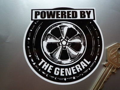Powered By the General GM General Motors Wheel Sticker. 3.5