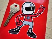 "MV Agusta Rider 2 Fingered Salute Sticker. 3.5""."