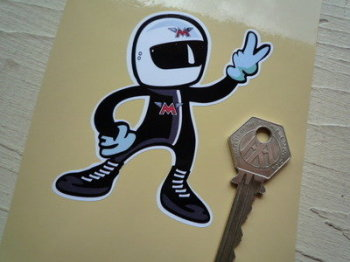 """Matchless Rider 2 Fingered Salute Sticker. 3.5""""."""