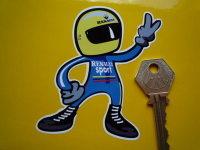 "Renault Sport Driver 2 Fingered Salute Sticker. 3.5""."