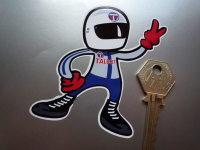 Talbot Driver 2 Fingered Salute Sticker. 3.5