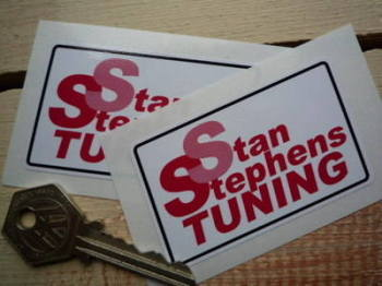 "Stan Stephens Tuning Scooter & 2 Stroke Bike Stickers. 2.75"" Pair."