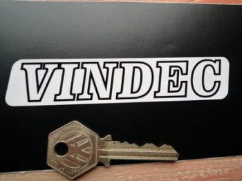 "Vindec Bicycle Black & White One Piece Text Stickers. 4.5"" Pair."