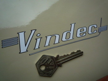 """Vindec Bicycle Cut Text with Strakes Sticker. 6""""."""