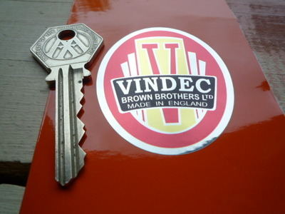 """Vindec Bicycle Headstock Red Style Foil Sticker. 2""""."""