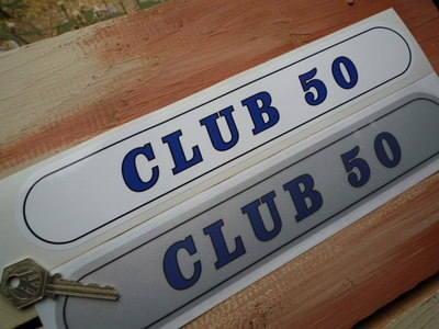 "Vindec Club 50 Frame Sticker. 12""."
