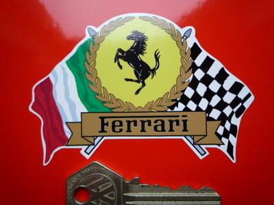 Ferrari Flag & Scroll Sticker. 4