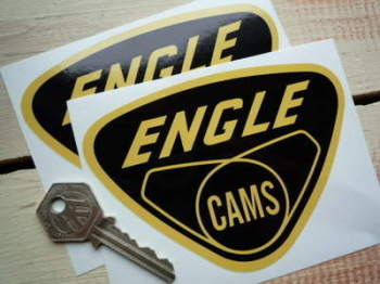 "Engle Cams Stickers. 4.75"" Pair."