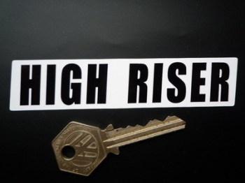 "Vindec Bicycle 'High Riser' Black & White Sticker. 4""."