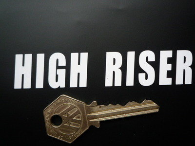"Vindec Bicycle 'High Riser' Cut Vinyl Sticker. 4""."