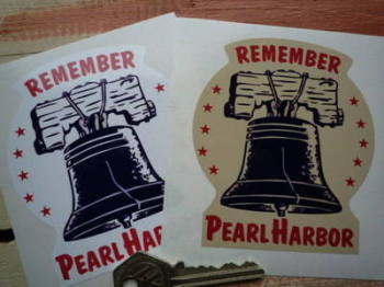 "Remember Pearl Harbor, Bell Sticker. 4""."