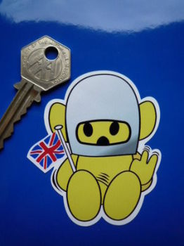 "Hesketh Naughty Teddy Sticker. 3""."