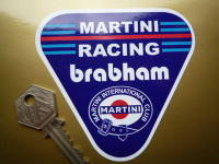 "Martini Racing Brabham. Triangle Sticker. 4""."