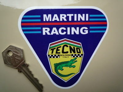 "Martini Racing Tecno. Triangle Sticker. 4""."
