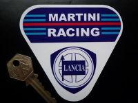 """Martini Racing Lancia. Triangle Sticker. 4"""", 6"""" or 8""""."""
