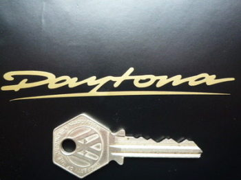 "Daytona Cut Vinyl Gold Text Stickers. 3""  or 4"" Pair."