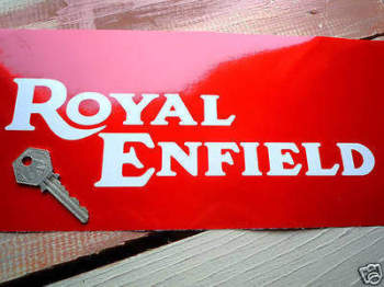 "Royal Enfield Continental GT Cut Vinyl Text Stickers. 8.5"" or 11"" Pair."