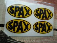 Spax Oval Stickers. Set of 4. 2