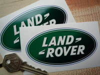 """Land Rover Modern Oval Stickers. 4"""" or 6"""" Pair."""
