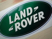 """Land Rover Modern Oval Sticker. 8"""" or 12""""."""