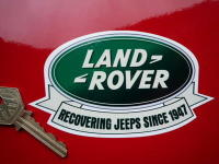 Land Rover 'Recovering Jeeps Since 1947' Humorous Sticker. 5