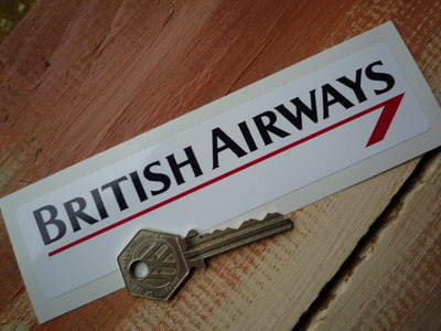 "British Airways Oblong Sticker. 5"" or 13""."
