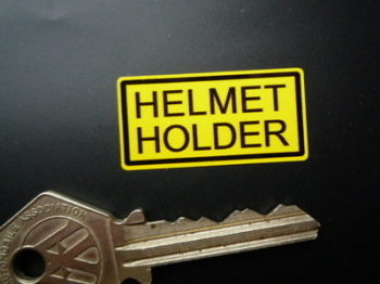 "Helmet Holder Classic Japanese Bike Stickers. 1"", 1.5"" or 2"" Pair."
