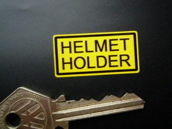 "Helmet Holder Classic Japanese Bike Stickers. 1"", 1.5"" or 2"" Pair."