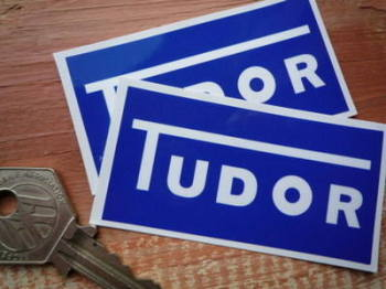 "Tudor Screenwash Special Offer Dark Blue Stickers. 2.75"" Pair."