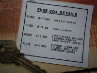 """Rover Land Rover Fuse Box Details Special Offer Sticker. 3""""."""