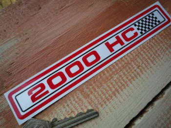 "Ford Escort 2000 HC Special Offer Sticker. 6.75""."