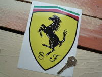 Scuderia Ferrari Prancing Horse Shield Sticker. 7