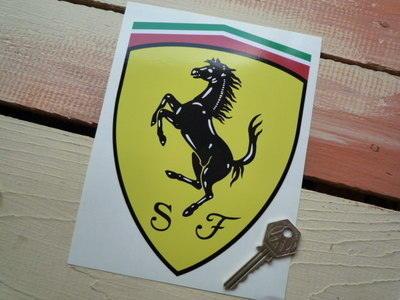 Scuderia Ferrari Prancing Horse Shield Sticker. 7