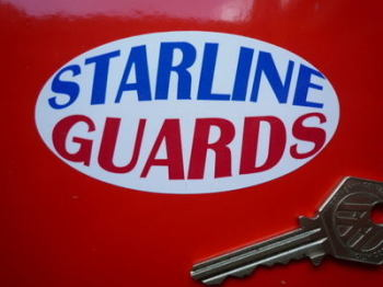 "Starline Guards Oval Mudguard Stickers. 3.5"" Pair."