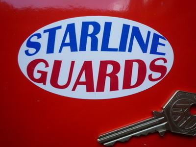 "Starline Guards Oval Mudguard Stickers. 3.5"" Pair."