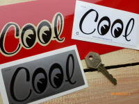 "Cool Moon Eyes Helmet Sticker. 4""."