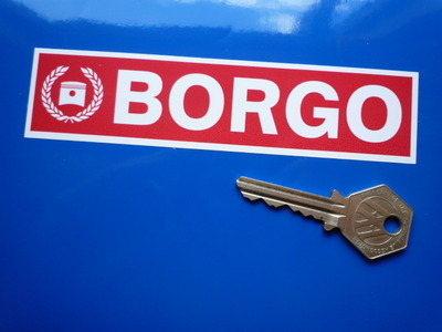 "Borgo Plain Oblong Stickers. 5.5"" Pair."