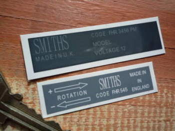 Smiths Heater Special Offer Stickers. Set of 2.